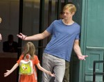 Alexander Skarsgard (Eric the vamp) facing off with a tiny fan