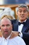 Geoge Clooney strangling some dude