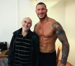 Phil Collins with WWE star Randy Orton