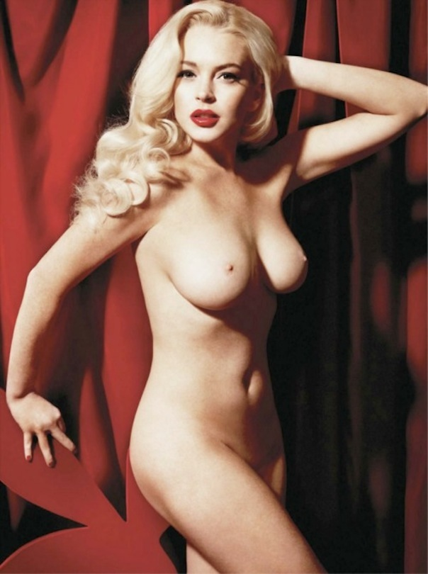 Lindsay Lohan Poses Nude #8211; as Marilyn Monroe