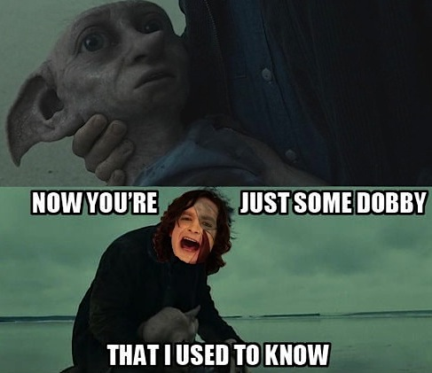 youre just some dobby that i used to know1 too soon, harry potter meme makers, too soon the twist gossip