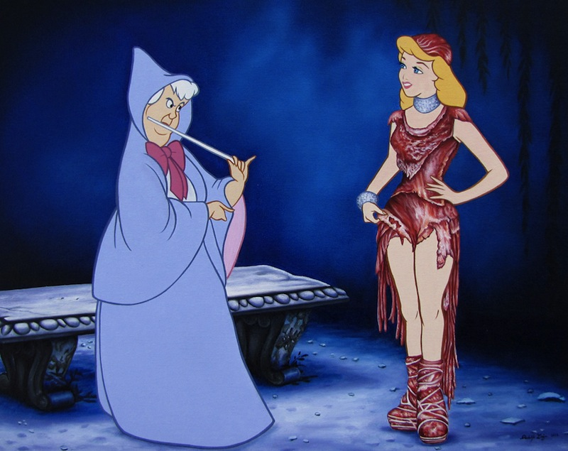 what will the prince think of Cinderella's 'Magic Meat Dress