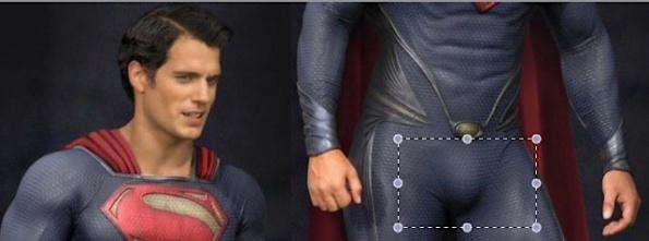 Superman's junk