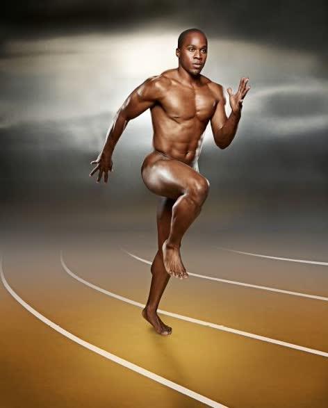 nude Track star
