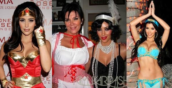 every halloween costume kim kardashian ever wore photos