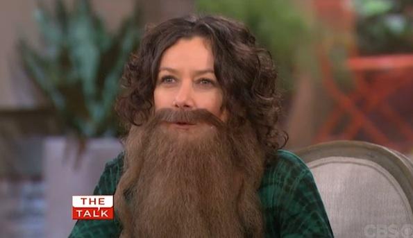 Sara Gilbert beard