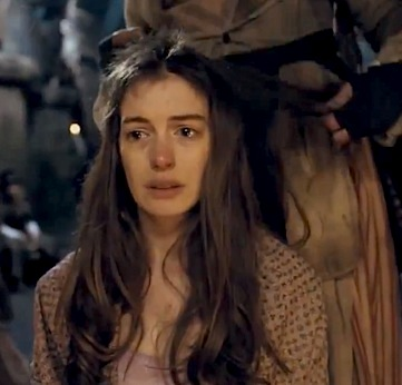 Anne Hathaway crying