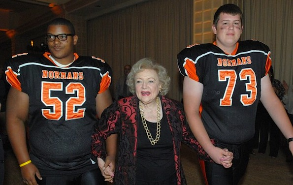 Betty White football players