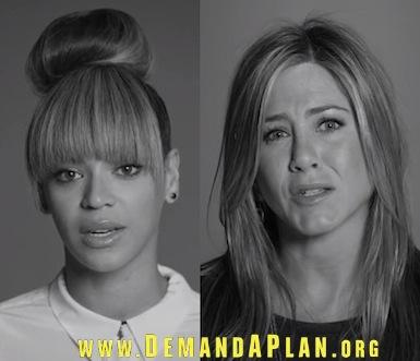 Beyonce Jennifer Aniston gun control