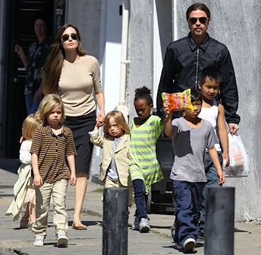 Brad Pitt Angelina Jolie six kids