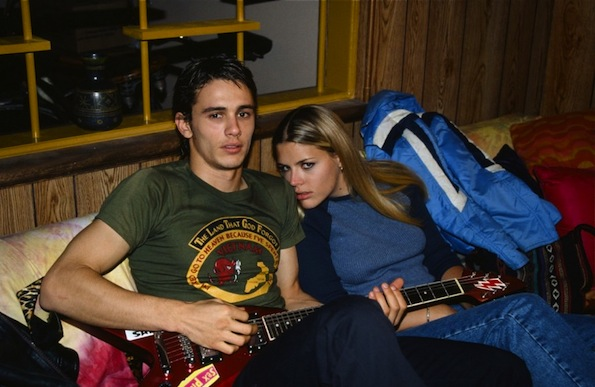 Busy Philipps and James Franco set photo