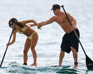 Channing Tatum beach paddle