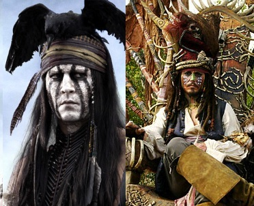 Johnny Depp Tonto Jack Sparrow