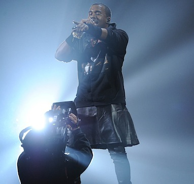 Kanye west leather skirt