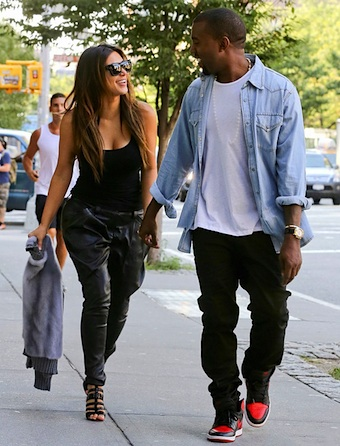 Kim and Kanye happy