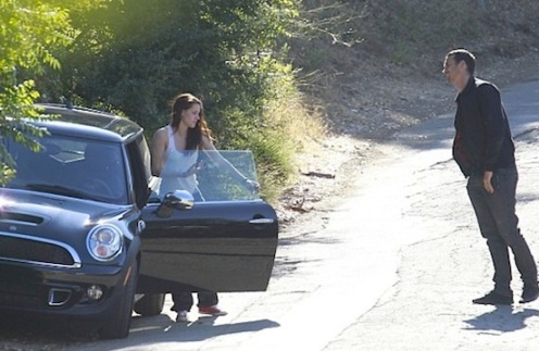 Kristen Stewart Rupert Sanders mini cooper