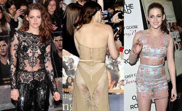 Kristen Stewart see-through dresses