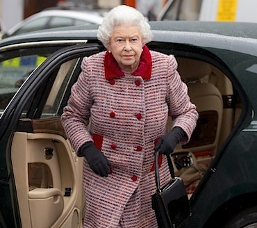 Queen Elizabeth red coat
