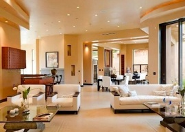Rihanna mansion living room
