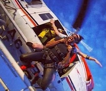 Usher skydive