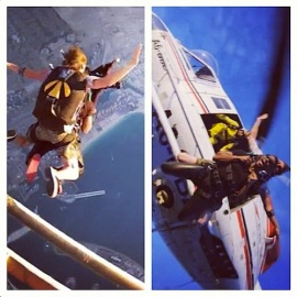 Usher skydiving 1