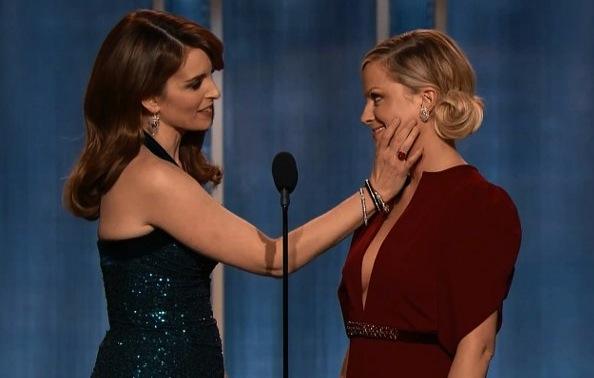 Amy and Tina Golden Globes