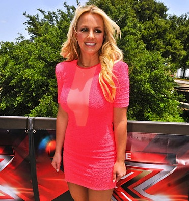 Britney Spears pink dress x factor 1