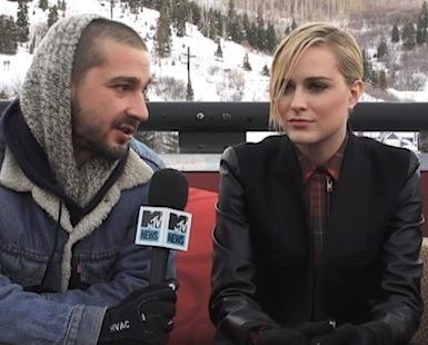 Evan Rachel Wood Shia LeBeouf Sundance