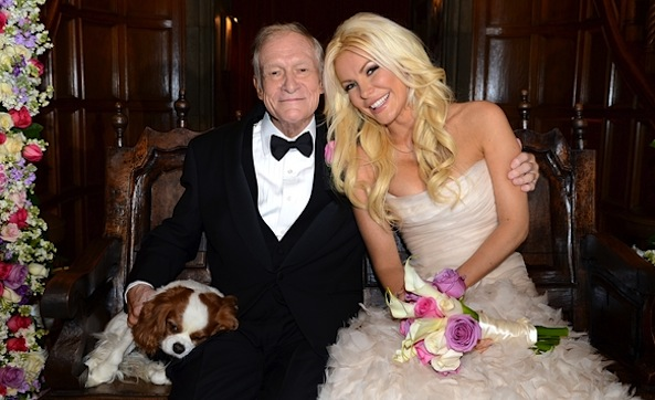 Hugh Hefner Crystal Harris wedding photos