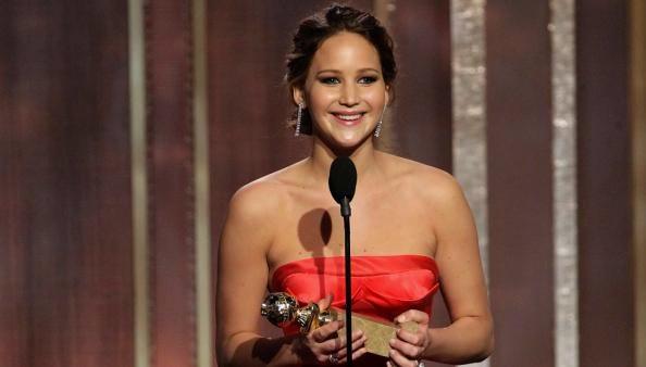 Jennifer Lawrence acceptance speech Golden Globes 2013
