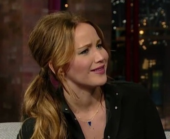 Jennifer Lawrence David Letterman 2013