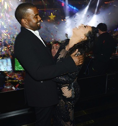 Kim and Kanye new years