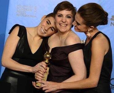 Lena Dunham girls cast Golden Globes