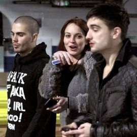 Lindsay Lohan Max George hanging out