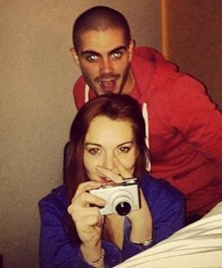 Lindsay Lohan Max George instagram