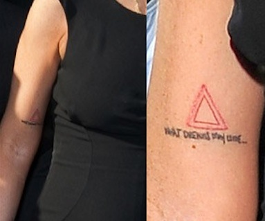 Lindsay Lohan triangle tattoo