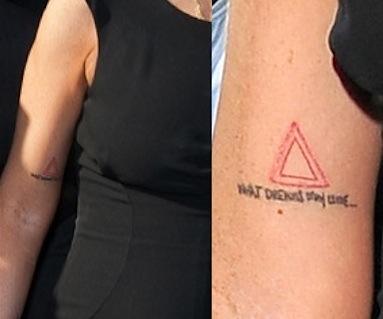 Lindsay Lohan triangle tattoo