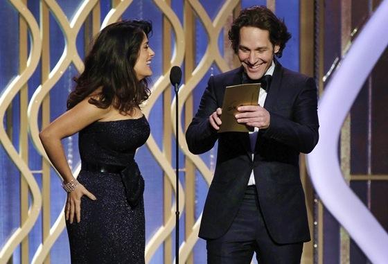 Paul Rudd and Salma Hayek Golden Globes 2013