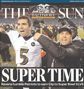 ravens football headline 2012 super bowl