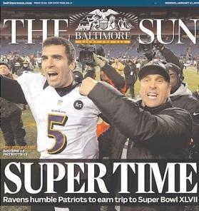 ravens football headline 2012 super bowl