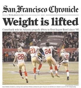 SF Chronicle 49ers win 2013