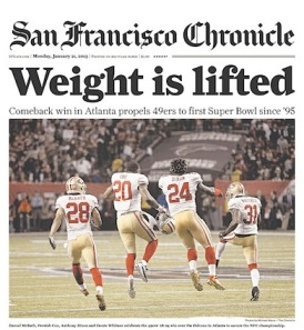 SF Chronicle 49ers win 2013