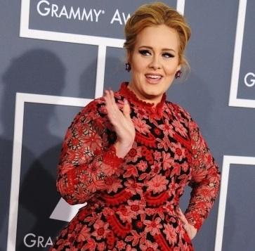 Adele grammys red carpet
