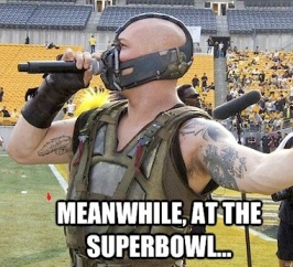 Bane Superbowl meme