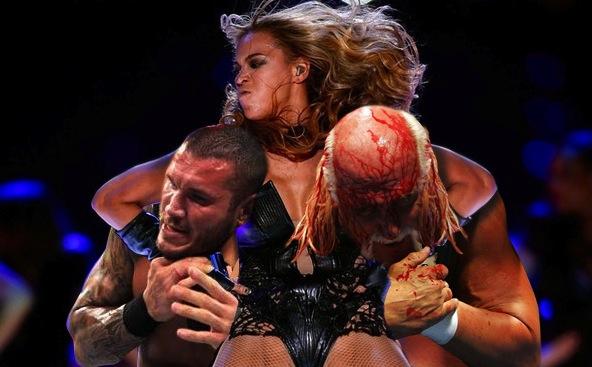 Beyonce wrestling