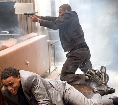 Chris Brown gun takers