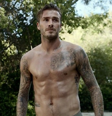 David Beckham shirtless H&M 2013