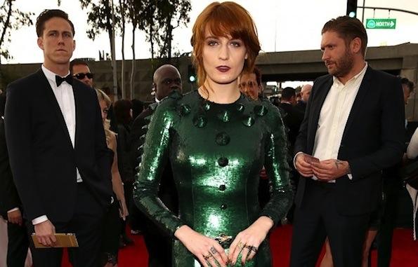 Florence Welch green Grammy dress