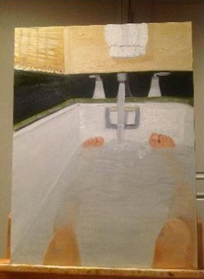 George bush bath painting
