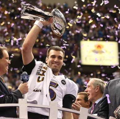 Joe Flacco trophy